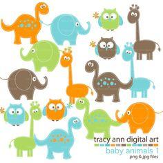 Baby Animals Clip Art Mega Set Clipart by TracyAnnDigitalArt