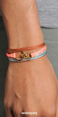 These Pura Vida bracelets are so cute. Every purchase of any product here helps fund anti-bully rallies in schools! Help change lives ► http://www.sevenly.org/?cid=InflPinterest0001Kaleb