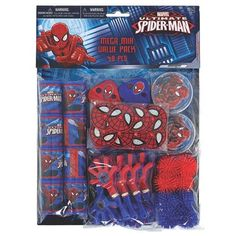 Type: Childrens party bannersMinimum age recommended: 5 yearsTarget Audience: unisex-childrenCharacter: Spider-ManHave a Spider-Man super hero birthday party! Contains 48 awesome Spider-Man party favors. Great for loot bags, game prizes, and pinatas! Spider Man Party, Fête Spider Man, Birthday Box, Birthday Party Favors, Birthday Party Decorations, Party Themes, Party Favours, Party Ideas, Party Prizes