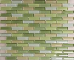 Coloured Subway Tile For Kitchen Backsplashes