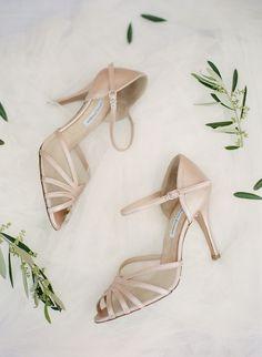 Bridal shoes by Femme Fanatique Santorini Wedding, Greece Wedding, White Bridal Shoes, Greece Destinations, Shoe Clips, Wedding Heels, Wedding Accessories, Destination Wedding, Chic