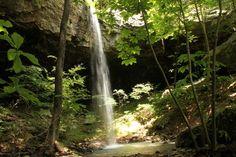 Rock Creek Bluff Falls -- Big Piney Wilderness - via ExploringNWArkansas.com