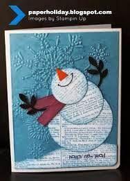 boneco de neve em jornal