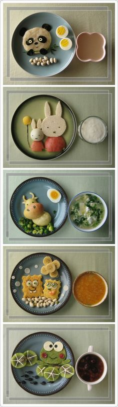 Food dishes with animal faces - promise you to smile :)