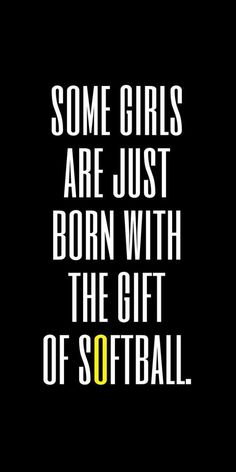 Some girls are just born with the gift of Softball!