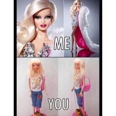 Walmart Barbie and Family dollar Katie--I feel as though everyone is their own kind of Barbie Doll though. Girls-Don't be afraid to be your own kind of Barbie. Me Vs You, Look At You, Bad Barbie, Barbie Stuff, Barbie World, Barbie Life, Laughing So Hard, Funny Photos, Make Me Smile
