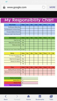 Responsibility chart with commission