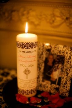 neat idea we did this at my daughters wedding (lit a candle put in & Celebration of Life Ideas find great ideas to personalize the ...