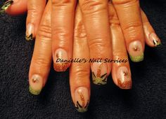 Danielle's Nail Services: July 26th, 2012 - Tropical Trees and Turtles!