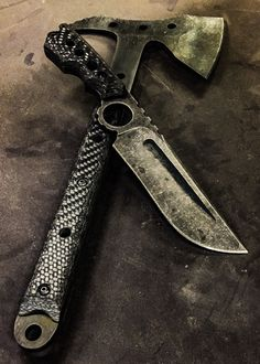 Half Life Knives .300 m4 rex ringed Bowie and .300 a2 Tactical hawk...