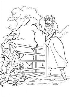Tarzan Målarbilder för barn. Teckningar online till skriv ut. Nº 19