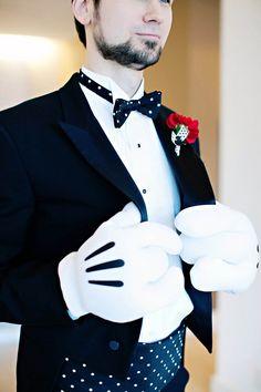 a retro disney wedding inspiration board - love his gloves!!