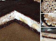 FITNESS-Kokos-Torte mit Bananen - Fotoanleitung