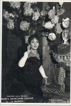 Maria Callas as Violetta in La Traviata by Giuseppe Verdi, Teatro alla Scala, Milan, 1955