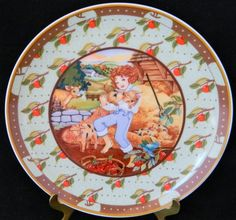 "Heinrich W. Germany Villeroy & Boch Salad Collectors Plate ""Tom The Piper's Son"""