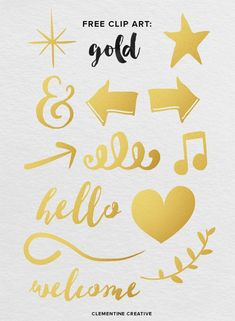 Download this free gold clip art pack to use in creative projects like blog headers, digital scrapbooking and more!
