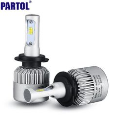 S3 Partol CREE Chips H7 CSP LED Headlights Kit 72W 8000LM Car LED Headlight Bulbs Front Light Fog Bulb All in one Headlamp 6500K