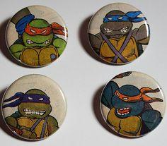 Teenage Mutant Ninja Turtles Comic Book 1.25 Pinback by PlushBot