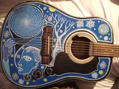 Tree Painted On Acoustic Guitar | Guitar Painting. | Flickr - Photo Sharing!