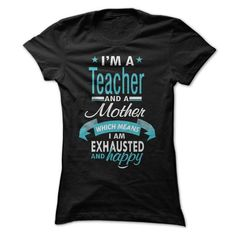 Teacher Mom T Shirts, Hoodies, Sweatshirts. CHECK PRICE ==► https://www.sunfrog.com/LifeStyle/Teacher-Mom-31100080-Ladies.html?41382