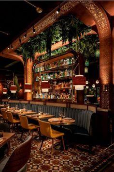 Concept Restaurant, Modern Restaurant Design, Restaurant Berlin, Deco Restaurant, Luxury Restaurant, Restaurant Lounge, Bar Interior Design, Bar Design, Lounge Design