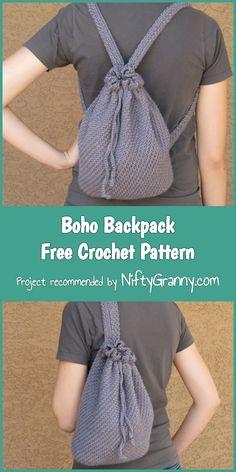 Boho Backpack Free Crochet Pattern #diy #diyproject #howto #crochet #crochetpattern #crochetaddict #freepattern #pattern #patternsforcrochet #handmade #boho #backpacking #backpacks #bohostyle