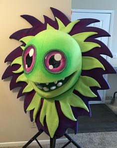 Finished costume character head from Dave Privett- dmpcreative@gmail.com Custom Puppets, Character Costumes, Big Eyes, Sonic The Hedgehog, Music, Fictional Characters, Art, Costumes, Role Play Outfits