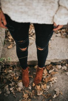 Fall forecast: 100% chance of denim, booties and a whole lot of sweaters.