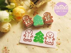 ★ Size Are × (Please confirm the actual size of the control ruler, not the feel or imagined) ★ Material Rubber + small wood carving . Stamp Carving, Wood Carving, Stamp Pad, Gingerbread, Stamps, Box, Cute, Christmas, Handmade
