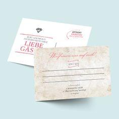 Antwortkarten zur Hochzeit selbst gestalten: Globetrotter-Reisepass-Passport-Design