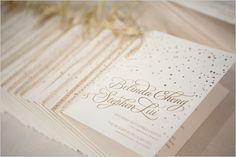 gold wedding invitation by Bella Figura