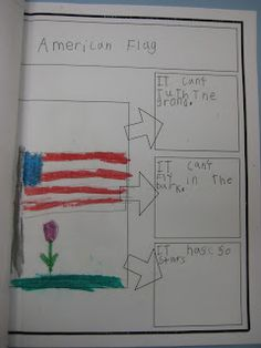 American Flag Writing Activity