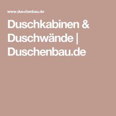 Duschkabinen & Duschwände | Duschenbau.de