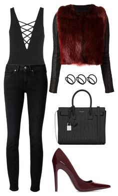 """Untitled #1596"" by susannem ❤ liked on Polyvore featuring Topshop, Levi's Made & Crafted, Zara, Simona Tagliaferri, Yves Saint Laurent and ASOS"