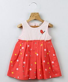 Loving this Pink Polka Dot Bird Bubble Dress - Infant, Toddler & Girls on #zulily! #zulilyfinds