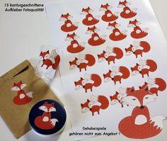 15 Aufkleber Fuchs konturgeschnitten- Fotoqualität von ღKreawusel-Designღ auf DaWanda.com