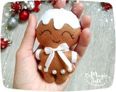 Christmas ornaments Felt gingerbread Christmas by MyMagicFelt