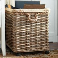 Joss and Main: Basket storage on wheels