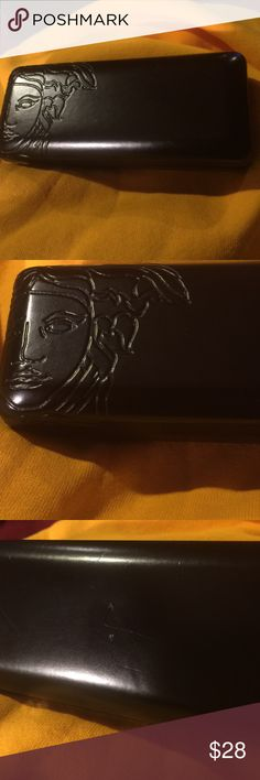 Versace  Medusa case.     $$$ 28 Versace   Good condition.  Black.  Leather Versace Accessories Glasses