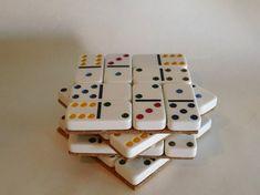 Domino coloridos posavasos