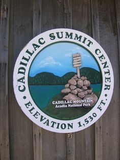 Cadillac Summit Center building on Cadillac Mountain, Acadia National Park -