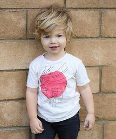 Another great find on #zulily! White Rockstar Apple Tee - Toddler & Kids by Kid + Kind #zulilyfinds