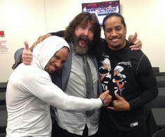 Jey USO Mick Foley & Jimmy USO