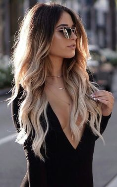 33 New ideas hair color highlights blonde ombre balayage Ombré Hair, New Hair, Curls Hair, Loose Curls, Wave Hair, Fall Hair Colors, Hot Hair Colors, Blonde Hair Colours 2018, Hair Colours Ombre