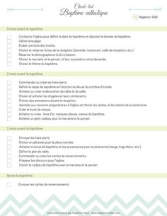Checklist bapteme religieux