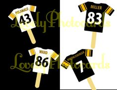 Pittsburgh Steelers Cupcake Toppers Jerseys. $6.00, via Etsy.