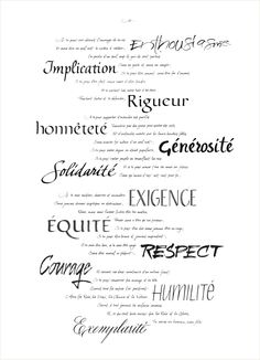 Clément SA Corporate Values   calligraphy:Yvat & Klerb http://www.y-k.it