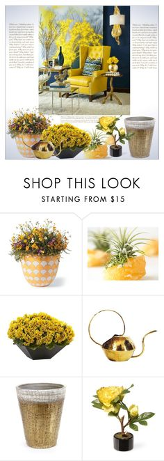 """Grow a Little : Planters"" by dragananovcic ❤ liked on Polyvore featuring interior, interiors, interior design, home, home decor, interior decorating, Grandin Road, Nearly Natural, Serax and National Tree Company"