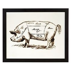 Add a bit of old school style to his gallery wall with our Pig Butcher Chart.
