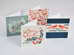Holiday card hand lettered Emily Hogarth